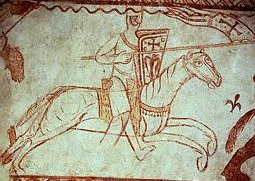 Crusading knight, from a 12th century fresco