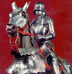 A fully plate-armored knight
